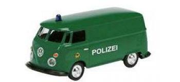 Train électrique : SCHUCO SCHU25735 - VW T1 Police
