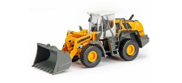 Modélisme ferroviaire : SCHUCO SCHU25801 - Engin de chantier Chargeuse sur pneus Liebherr 550