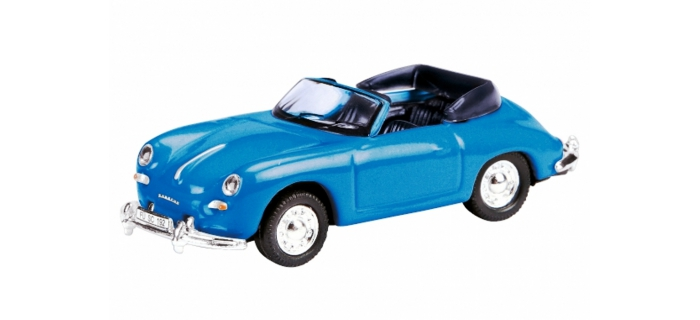 MODELISME FERROVIARE SCHUCO SCHU26062 -  Porsche 356 A Cabriolet bleu nuit