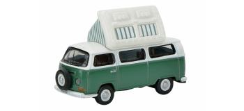 Train électrique : SCHUCO SCHU26081 - VW T2a Minibus camping avec toit basculant