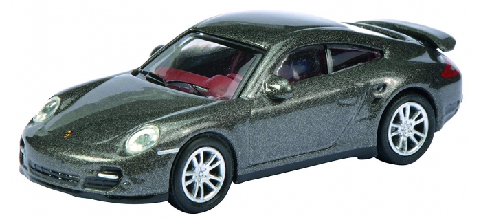 Modélisme ferroviaire : SCHUCO -SCHU452619900 - Porsche 911 (997) Turbo Grise