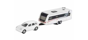 SCHU25856 - Porsche Cayenne & Hymer Nova S690  - Schuco