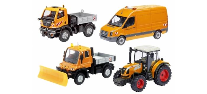 SCHU25893 - Set de 4 véhicules de chantier - Schuco