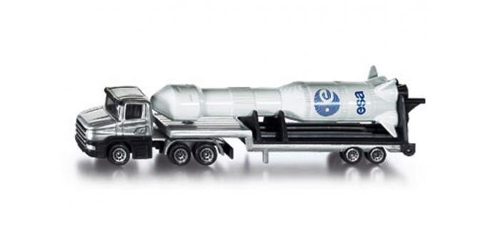 Train électrique : SIKU1614 - Camion surbaissé avec fusée