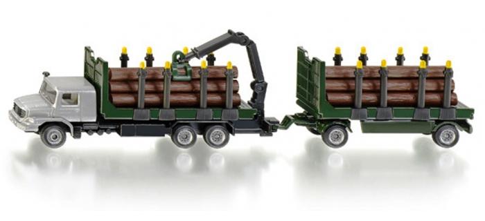 Modélisme ferroviaire : SIKU1804 - Remorque transport bois