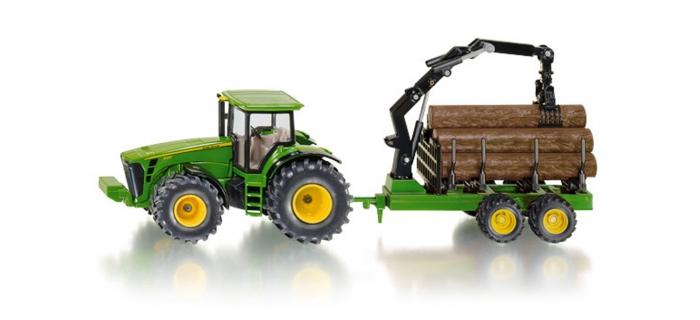 Modélisme ferroviaire : SIKU1954 - Tracteur + remorque forestier