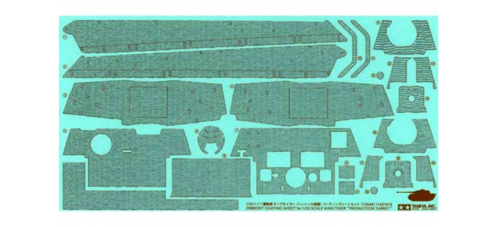Maquettes : TAMIYA TAM12648 - Stickers Zimmerit King Tiger H.