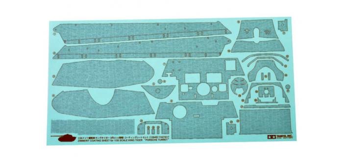 Maquettes : TAMIYA TAM12649 - Stickers Zimmerit King Tiger P.