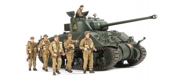 Maquettes : TAMIYA TAM25174 - Sherman Firefly VC & Inf. Brit.