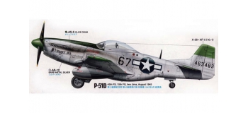 TAMIYA TAM60323 - Avion P-51D/K Mustang Pacifique