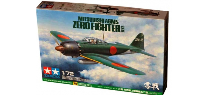 Maquettes : TAMIYA TAM60779 - Avion Mitsubishi A6M5 Zero